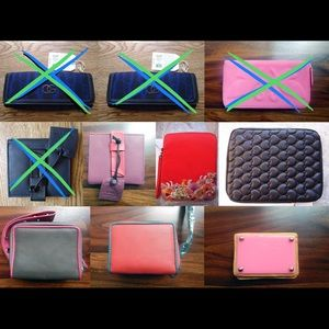 6 genuine leather wallets card holder iPad cases
